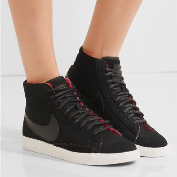 Nike Shoes   Blazer Mid Suede Shearling High Top Sneakers   Poshmark